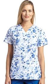 printed scrub tops for discounted prices at allheart