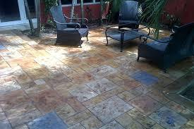 Resurface Concrete Patio Flooring Ideas Wooden Floor Over Concrete In A Design Of Patio