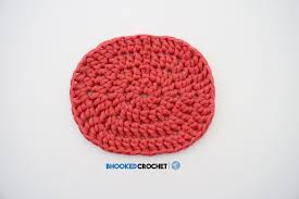 crochet oval free pattern and video tutorial b hooked crochet