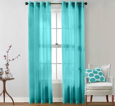 Teal Window Curtains Exciting Teal Sheer Curtains Warm Home Designs Blue Window Scarf