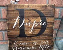 wedding gift name sign rustic sign last name sign personalized sign wooden sign