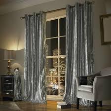 Grey Curtains Kylie Minogue Iliana Silver Grey Curtains Designer Eyelet Velvet
