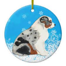 australian shepherd puppies ornaments keepsake ornaments zazzle
