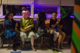 students sport ghoulishly good costumes at middle dance