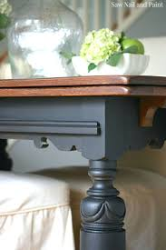 antique dining table updated with chalk paint old oak dining
