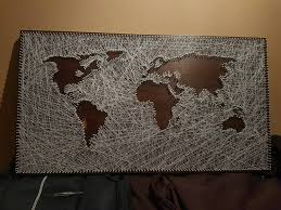 string art world map unique christmas gift discount home decor