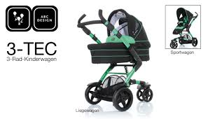 abc design kombikinderwagen 3 tec komfort und design der 3 tec 3 rad kinderwagen abc design