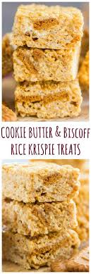 cookie butter rice krispie treats the gold lining