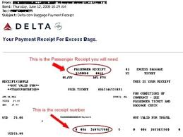 united checked bag united airlines receipt united airlines receipt for checked bag