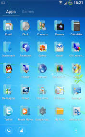 thema apk blue windows 7 golauncher free android apps on play