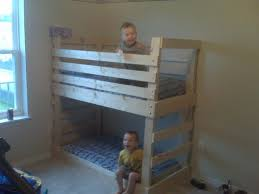 Free Bunk Bed Plans Twin Over Full by Gorgeous Building Bunk Beds 142 Built In Triple Bunk Bed Plans
