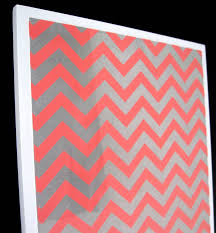 coral chevron magnet dry erase steel memo board decorative art