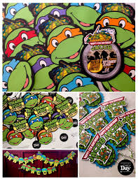ninja turtles invitations free layout that day invites and crafts