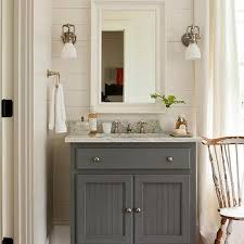 bathroom vanity design ideas gray beadboard vanity design ideas