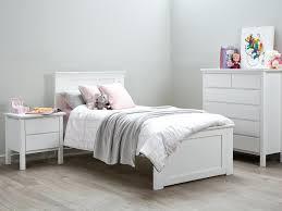 kids modern bedroom furniture decoration modern wooden bed frames white single size frame timber