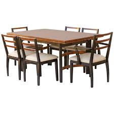 hastings art deco dining table chairs by donald deskey or walter