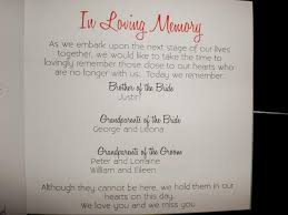 wedding memorial wording in memory of wording wedding tips and inspiration