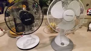 kenmore 18 inch stand fan with remote dueling kenmore 12 inch ocelating fan review youtube