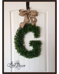 monogram wreath don t miss this deal birthday gift boxwood letter door decoration