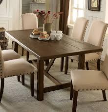 Transitional Dining Room Furniture Furniture Of America Cm3538t Brentford Transitional Rustic Walnut