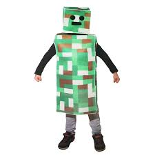 amazon com green pixel robot monster child costume large 10 14