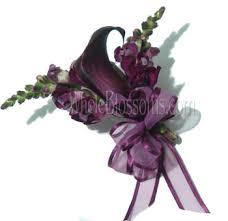 Corsage Flowers Purple Mini Calla Corsage Flower Online