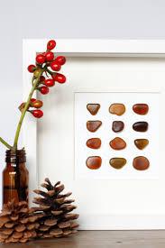 japanese brown fall sea glass wall decor coastal home decor