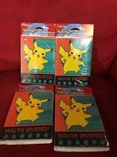 birthday child pokemon greeting invitations ebay
