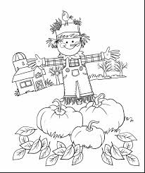 terrific fall scarecrow coloring pages printable with printable