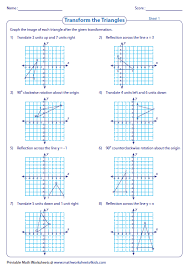 grade 7 math rotation worksheets geometry worksheets