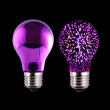 a19 3d fireworks led decorative bulb purple light color china