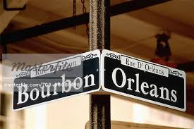 bourbon sign up of bourbon sign new orleans louisiana usa