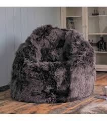 sheepskin beanbag large ivory long wool luxe only 725 00