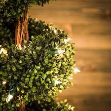 shop ge 5 ft pre lit boxwood slim artificial tree with