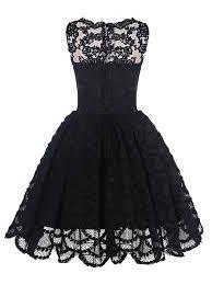 vintage black buy a line scalloped edge sleeveless vintage black lace prom