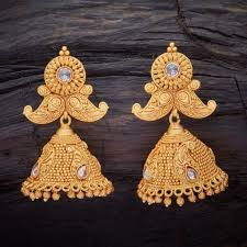 jhumka earrings antique ch jhumka earring 80585c kushal s fashion jewellery