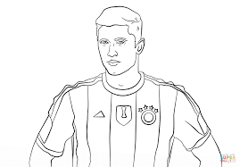 robert lewandowski coloring page free printable coloring pages