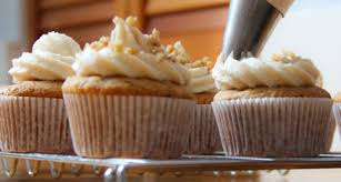 maple frosting walnut cupcakes with creamy maple frosting