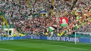 Palistinian Flag Celtic Fc Face Uefa Punishment After Fans Wave Palestinian Flag