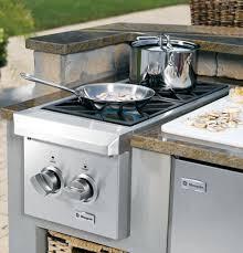 Small Cooktops Electric Monogram Dual Burner Outdoor Cooktop Natural Gas Zgu122npss