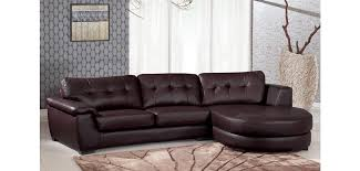 Brown Bonded Leather Sofa 3612 Contemporary Brown Leather Sectional Sofa By Global