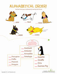 animal alphabetical order worksheet education com