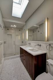 Sink With Double Faucet Traditional 3 4 Bathroom With Double Sink By Ben Herzog Architect