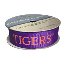 collegiate ribbon 7 8 clemson tigers college ribbon 3 yds sports