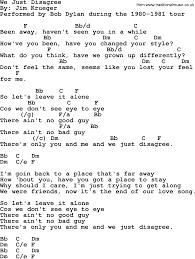 U Got It Bad Lyrics Bob Dylan Song We Just Disagree Lyrics And Chords
