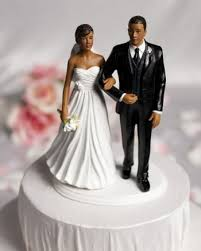 chic american wedding cake topper the broom