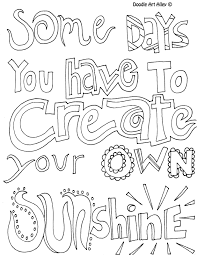 printable page of quotes quote coloring pages all quotes great doodle page to use
