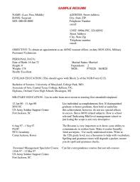 Resume Examples For Military Army Warrant Officer Resume Examples Free Resume Example And