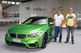 Bmw M3 Yellow Green - bmw m4 in java green delivered at bmw welt
