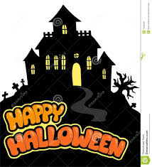 picture of happy halloween happy halloween sign with house royalty free stock photos image